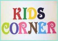 Painted Victorian Font Wooden Wall Letters Multi Colored for Kids Playroom by Alphabet Boutique